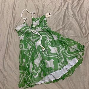 NWT Milly Palm Green Summer Halter Dress